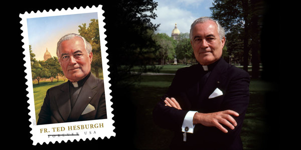 Hesburgh Stamp Feature